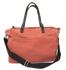 Large Canvas Tote Bag, Shopper, Travel, Shoulder Bag - Sunset Peach