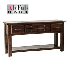 FULLY CONSTRUCTED COBAR HALL TABLE 6 DRAWER SIDEBOARD CONSOLE TIMBER LARGE