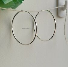 Genuine 925 sterling silver Dia30mm (large size) hoop earring