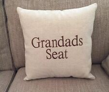 Laura Ashley Natural Austen Fabric Grandads Seat Cushion Cover Embroidered