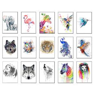 Wildlife Animals - Various Designs - A4 A5 A6 Unframed WALL ART PRINT POSTER