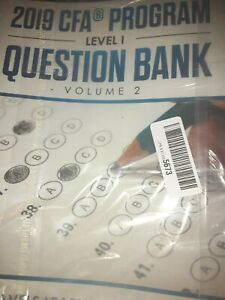 2019 Cfa(r) Program Level 1 Question Bank: Volume 2, Brand New, Free shipping...