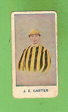 #D37.  1917  AUSTRALIAN JOCKEY  CIGARETTE CARD - J. E. CARTER