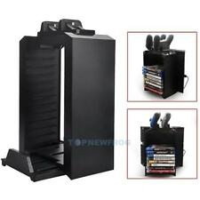 Vertical Console Stand Dock Cooling Fan + Game Storage for PS4 Pro Slim Xbox One