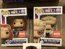 Collector & Black Widow What If Marvel Collector Corps Funko Pops Exclusives
