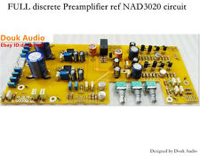 Assembled FULL discrete Preamplifier Board ref NAD3020 circuit Upgraded version