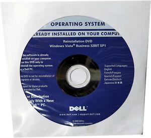 NEW Sealed Windows Vista Business 32BIT SP1 Reinstallation DVD, P/N M684D