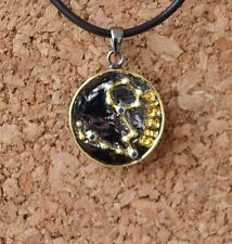 Handmade Silver pendant with Sapphire. Zodiac Collection