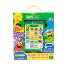 Electronic Me Reader 8 Book Sesame Street 3+ Toy Boys School Library Play Elmo