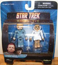 Star Trek Series 5 Set of Mini Mates DECKER and ILEA PROBE ~ Art Asylum