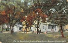 Clark's Sanatorium for Mental & Nervous Diseases, Stockton, CA 1908 Postcard