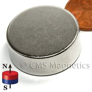 "Grade N42 Disc Neodymium Magnets Dia 1x3/8"" Rare Earth Magnet 20-Count"