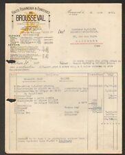 BROUSSEVAL 52 : FONDERIE & HAUTS-FOURNEAUX en 1950