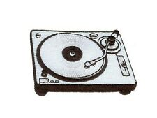 ecusson brodé Platine disques ecusson DJ turntable DJ patch