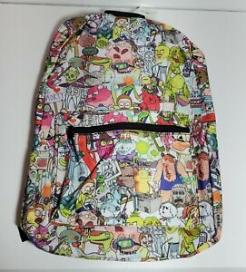 Rick and Morty Sublimated Backpack adult swim NEW