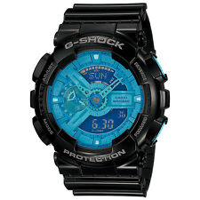 Casio G-SHOCK Hyper Colors Black Blue Watch GShock GA-110B-1A2