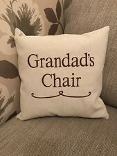 Laura Ashley Austen Personalised Grandads Chair Cushion Cover Embroidered