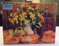 Still Life Floral 500 Piece Vintage Jigsaw Puzzle by Golden #4646-47 New in box