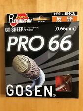 Gosen Badminton string PRO 66, 0,66 mm, set 10m, White