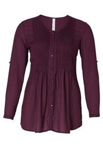 808 Sheego Shirt Taille 40//42-56//58 manches courtes gekreuzter encolure en V NEUF