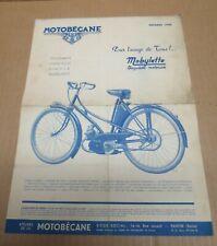 MOTOBECANE Mobylette vélomoteur motocyclette publicité illustrée