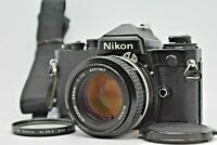 [Exc+5] Nikon FE Black 35mm SLR Film Camera w/ Nikkor Ai 50mm f/1.4 JAPAN #212