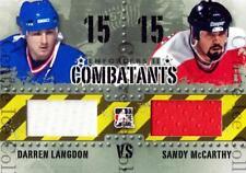 2013-14 ITG Enforcers Combatants Jersey #10 Darren Langdon, Sandy McCarthy