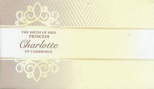 Australia 2015 FDC Birth Princess Charlotte Cambridge Royal Baby Blank Cover
