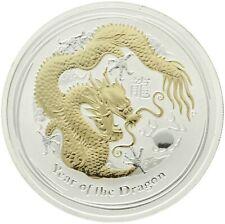 Australia - Silver 1 Dollar Coin - 1 Oz. - 'Year of the Dragon' - 2012 - UNC