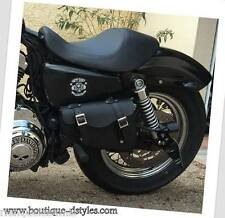 Sacoche latérale en Cuir - Simple { Harley V-rod / night rod (sous la selle)