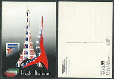 1999 ITALIA CARTOLINA PHILEX FRANCE 99 PARIGI - DA