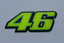 ROSSI '46' FLUORESCENT STICKER COATED WITH A HIGH GLOSS DOMED GEL FINISH
