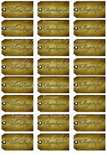 24 White Magic, Magic Ingredient, Magic Spell tags for party decoration