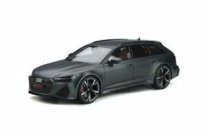 1:18 2020 Audi RS6 Avant C8 -- Matte Daytona Grey -- GT Spirit