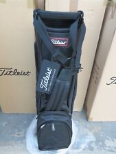 NEW Titleist BLACK Lightweight TB5SS6AC - 0 Bag 4 Way Light Stand Carry - Single