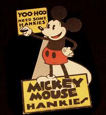 "Walt Disney Mickey Mouse Standee ""YOO-HOO"" Hankies Counter Herrmann 1932 2005"
