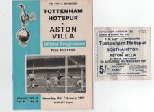 Away Teams A-B Aston Villa Home Teams S-Z Football Programmes
