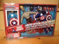 Marvel Retro Mego Action Figure Captain America Ltd Edition Collector Set *New*