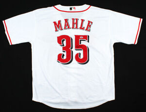 Tyler Mahle Signed Cincinnati Reds Majestic MLB Jersey (PSA Rookie Graph COA)