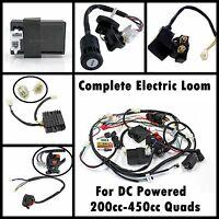 DC Complete Wiring Harness Loom 200/250/300/350/400/450cc ATV Quad Bike Buggy