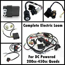 DC Complete Wiring Harness Loom 200/250/300/350/400/450cc ATV Quad Bike Buggy
