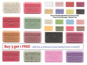 Savon De Marseille Natural French Soap - Buy 3 Get 1 Free - Plastic Free P&P