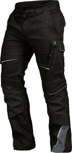 FLEX-LINE Cargo Arbeitshose Bundhose Stretch Hose Slim Fit Workwear schwarz