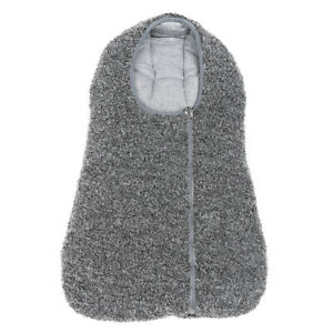 RRP €295 HERNO Boucle Baby Footmuff Alpaca & Wool Blend Padded Zip Front
