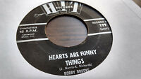 Bobby Brooks/Ed Harden 45 Hearts are Funny Things/Goodnight Hit Northern Soul