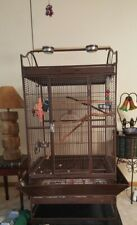 "Bird Cage for Large or Medium size Parrot Used 65"" Tall Includes Stand 37"" sq"