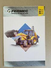 Fermec 700, 800 & 900 8pg Leaflet /Brochure & 4x4pg individual spec sheets 2000