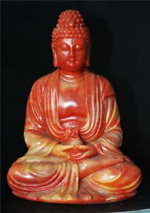 chinese shoushan stone carved tibetan medicine buddha statue old sculpture tibet