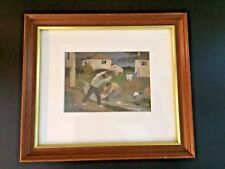 "Vintage 9""x8""  Framed Ramiro Arrue Print from Galerie Romero Bayonne France"