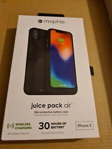 Mophie Juice Pack Air Phone Wireless Charging Case (Black)  Apple iPhone X BNIB